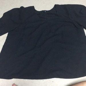 Lane Bryant black blouse